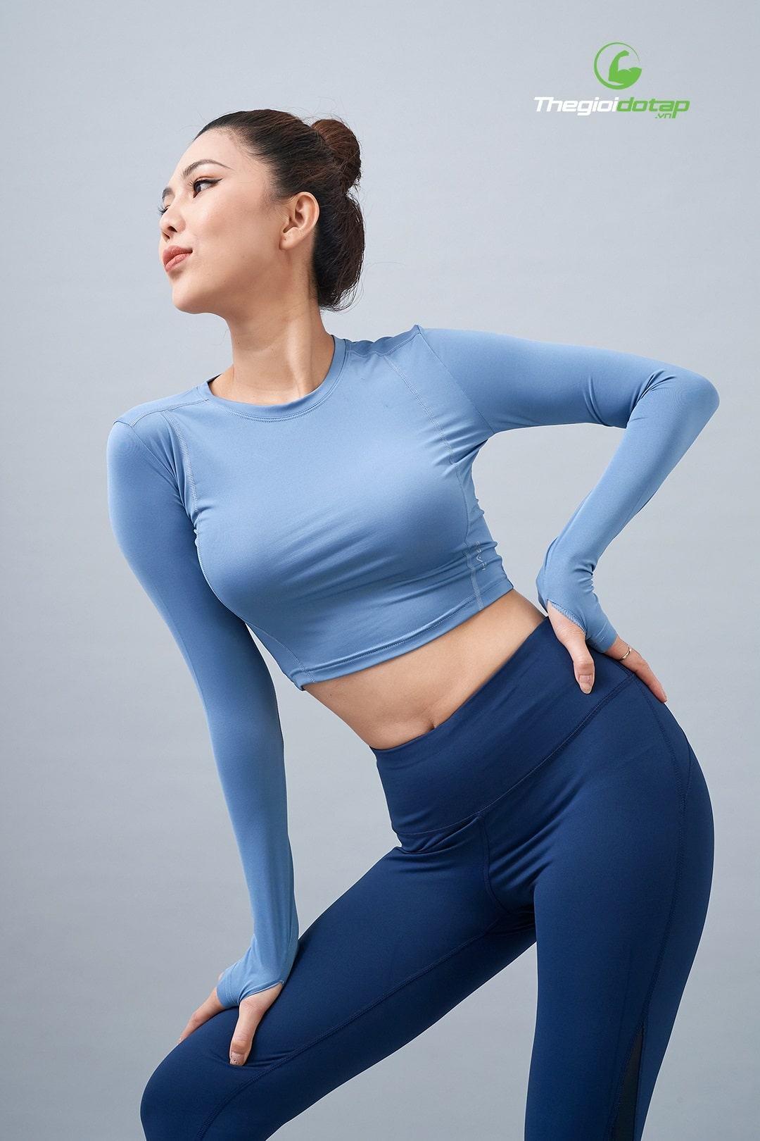 Áo croptop tập gym nữ